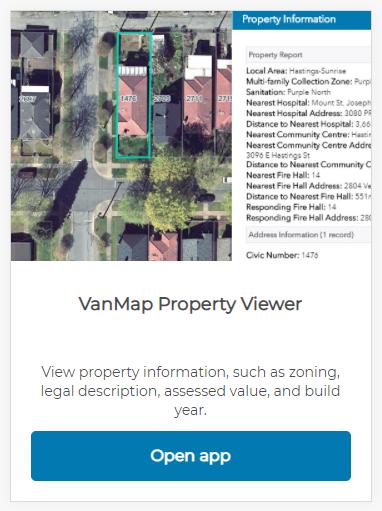 Screen shot of Property Viewer app
