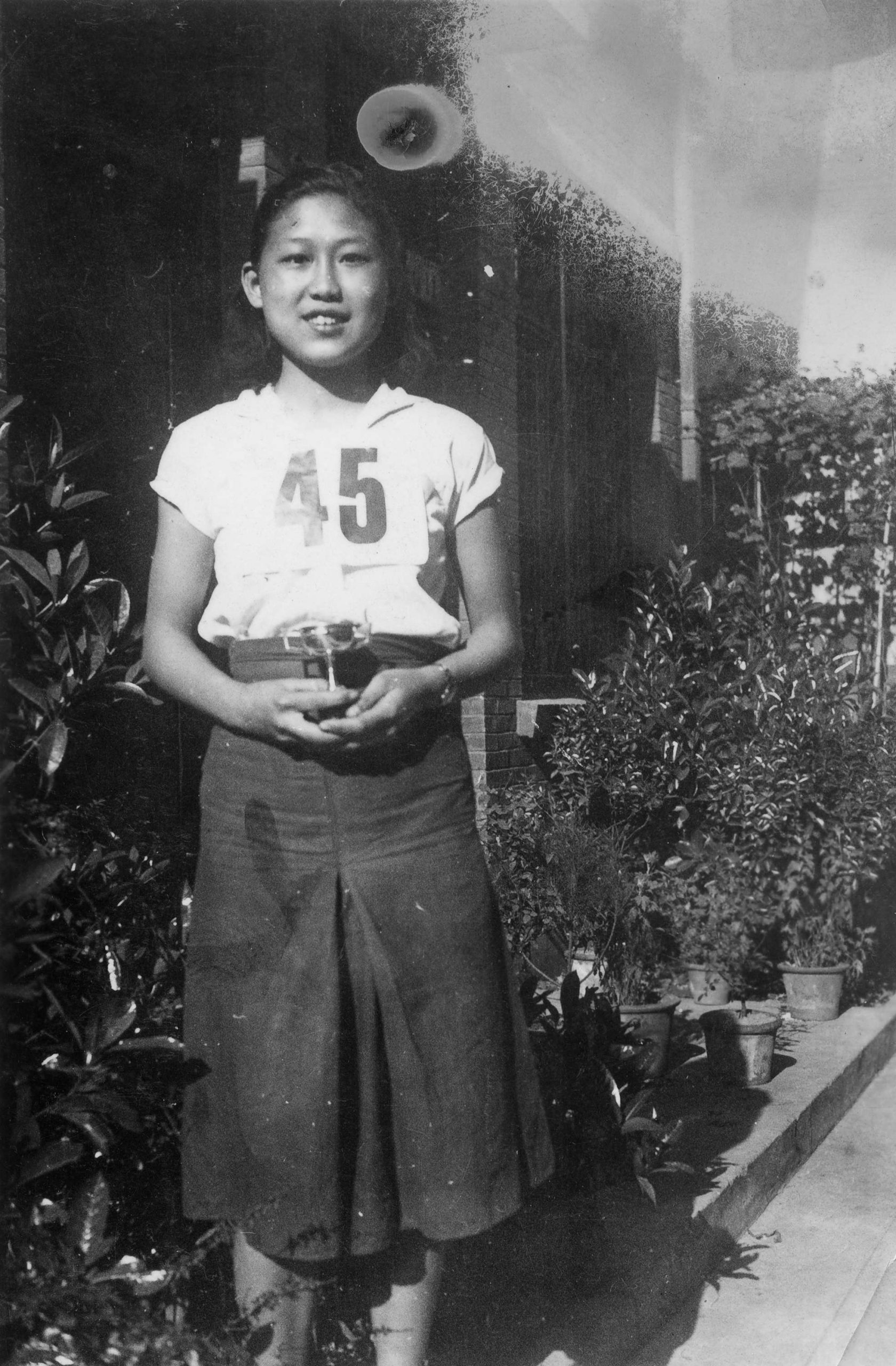 Winnie Eng with her winning trophy. Reference code: AM1523-S5-1-F089-: 2008-010.3540