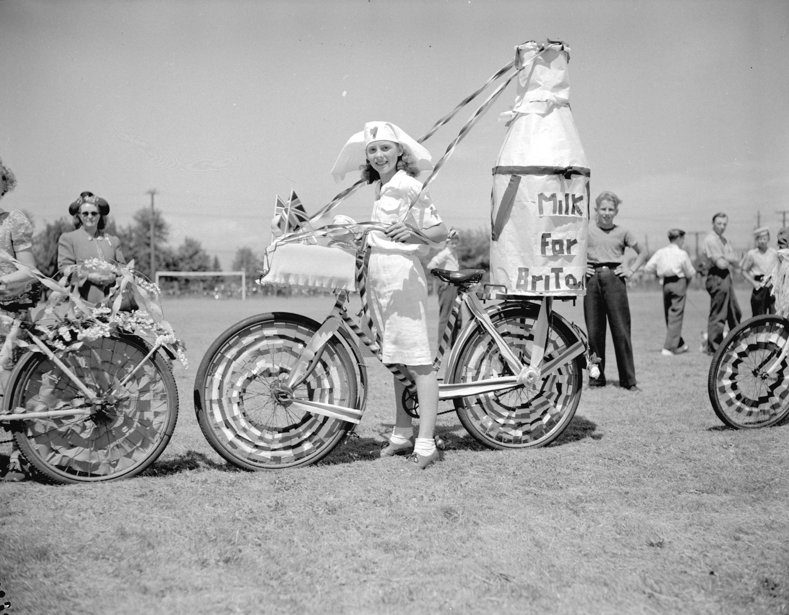 Decorated bicycle at Richmond Victory Celebration. Reference code: AM1545-S3-: CVA 586-1301