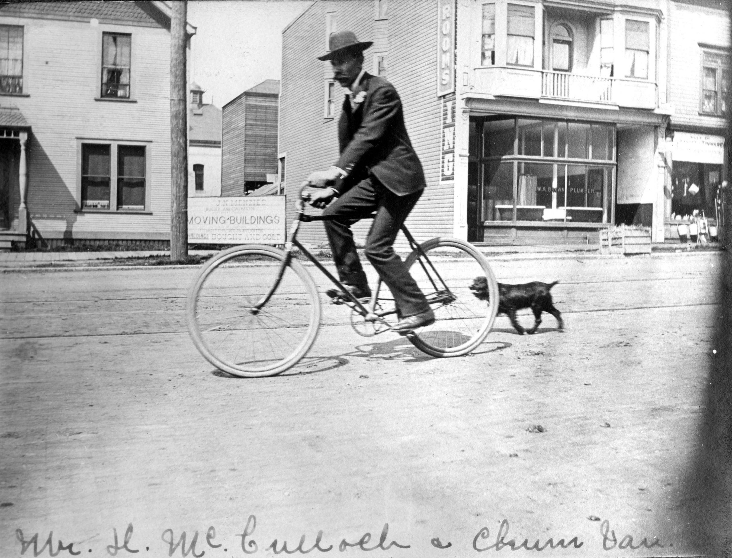 Cycling on East Hastings. Reference code: AM1376-F14-: CVA 312-40