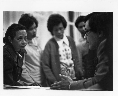 SPOTA leader Joe Wai (front right). Reference code: AM734-S4, 175-A-02 fld 05