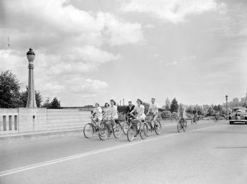 Canadian Youth Hostel bike hike, July 1943. Reference code: AM1545-S3-: CVA 586-1342