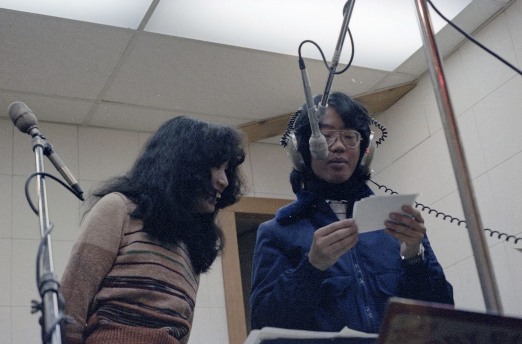 Recording an episode of Pender Guy, ca. 1979. Reference code: AM1523-S6-F48-: 2008-010.2118