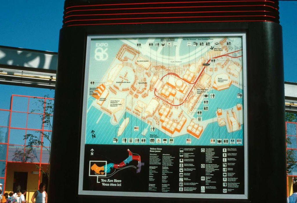Expo 86 Information Board, August 1986. Reference code: AM1551-S1-: 2010-006.396