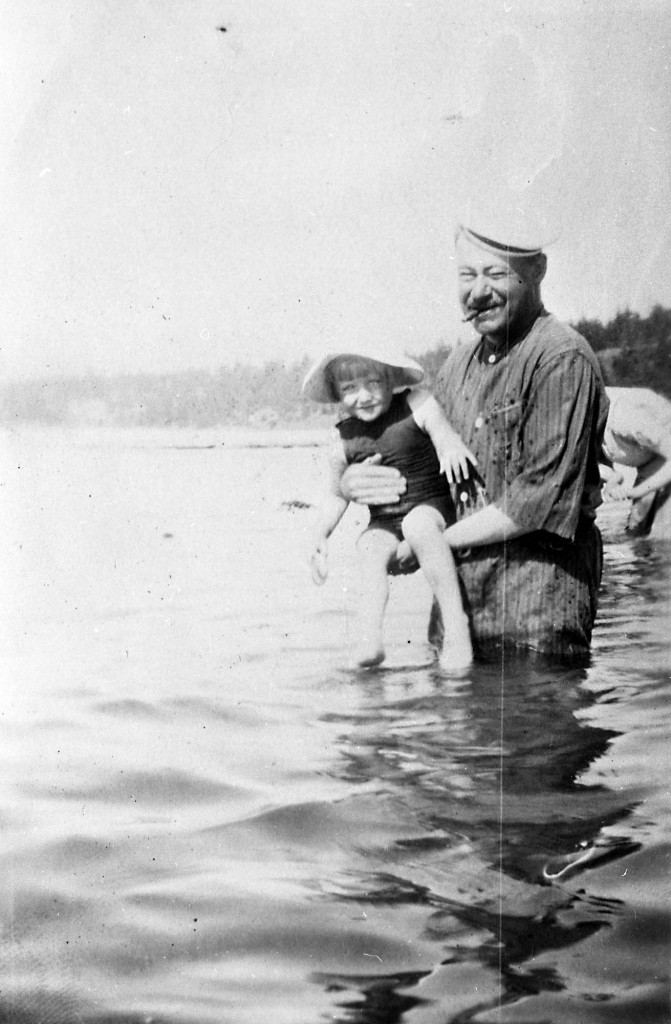 B.T. [Benjamin Tingley] Rogers and Margaret swimming; Reference code: AM1592-1-S2-F08 : 2011-092.3807.