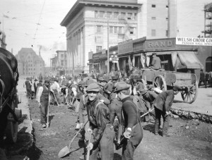 1911 construction at Granville and Pender