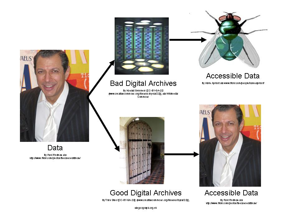 Demystifying Digital Archives using a Fly metaphor and Jeff Goldblum
