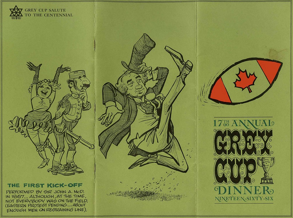 Grey Cup Dinner Program 1963