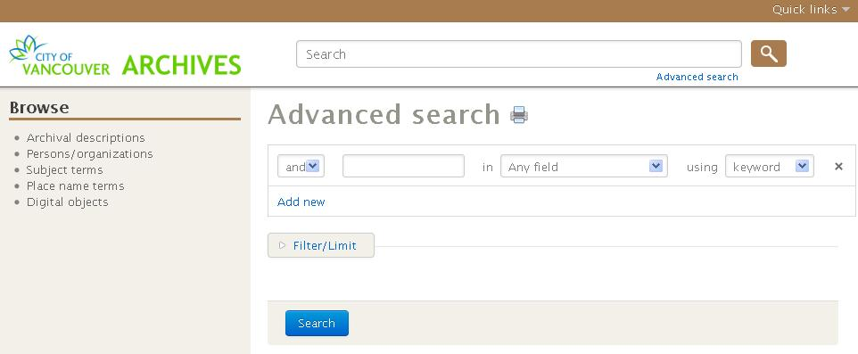 Our New Online Search