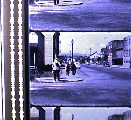 The squiggly lines on the left are the optical sound track for this film. Photograph: Sue Bigelow