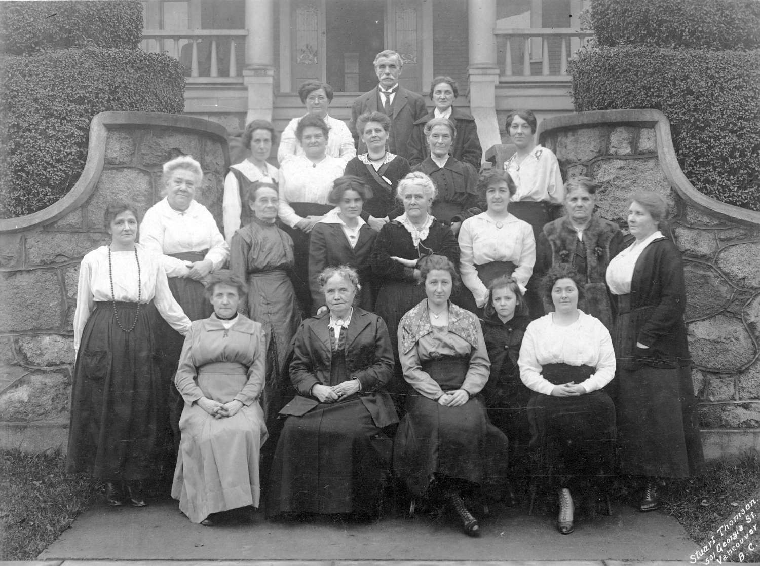 The St. Andrews' and Caledonian Society sewing group, 1913. Stuart Thomson, photographer. Reference code AM54-S4-: Ch P94
