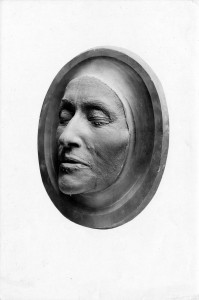 Death mask of E. Pauline Johnson by Charles Marega, 1913.  Reference code AM1102-S3-: LEG427.5