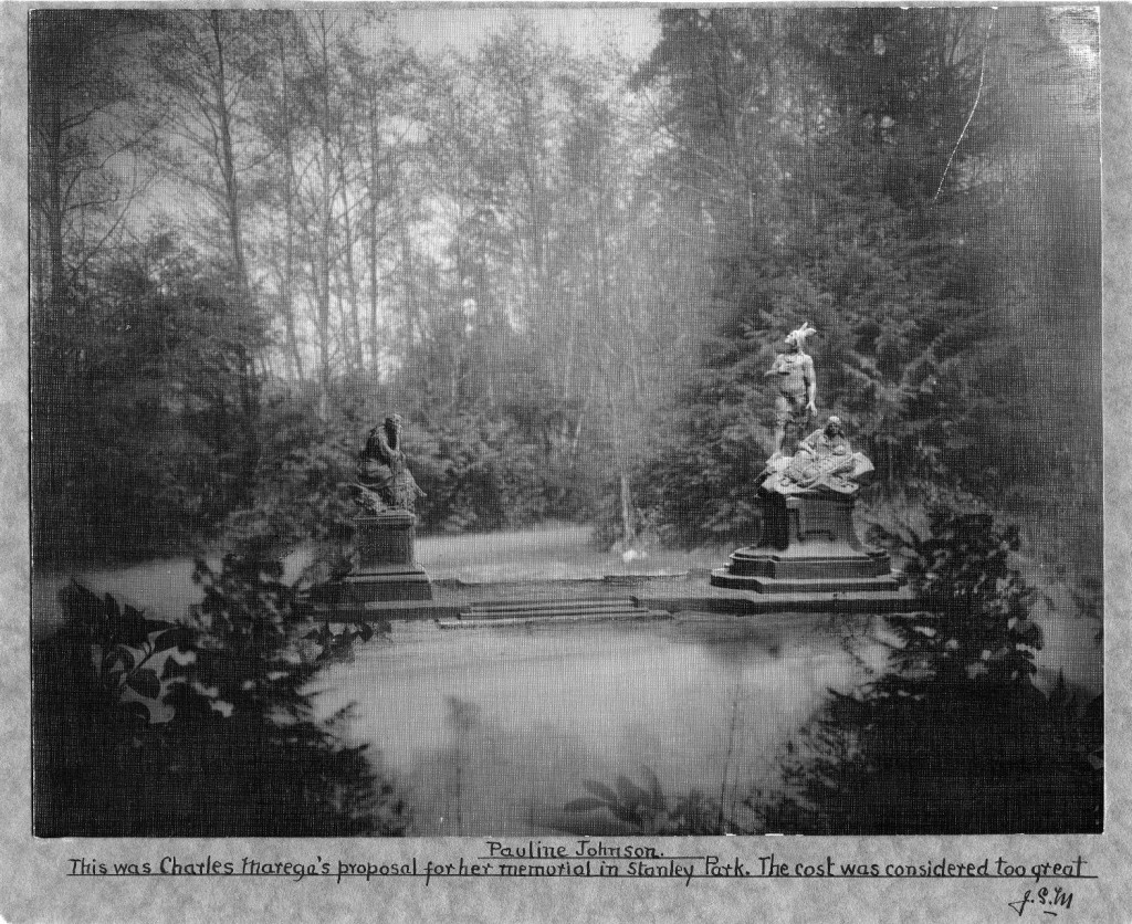 Design by Charles Marega for a memorial to Pauline Johnson in Stanley Park, n.d. Reference code AM54-S4-: MON.P.82