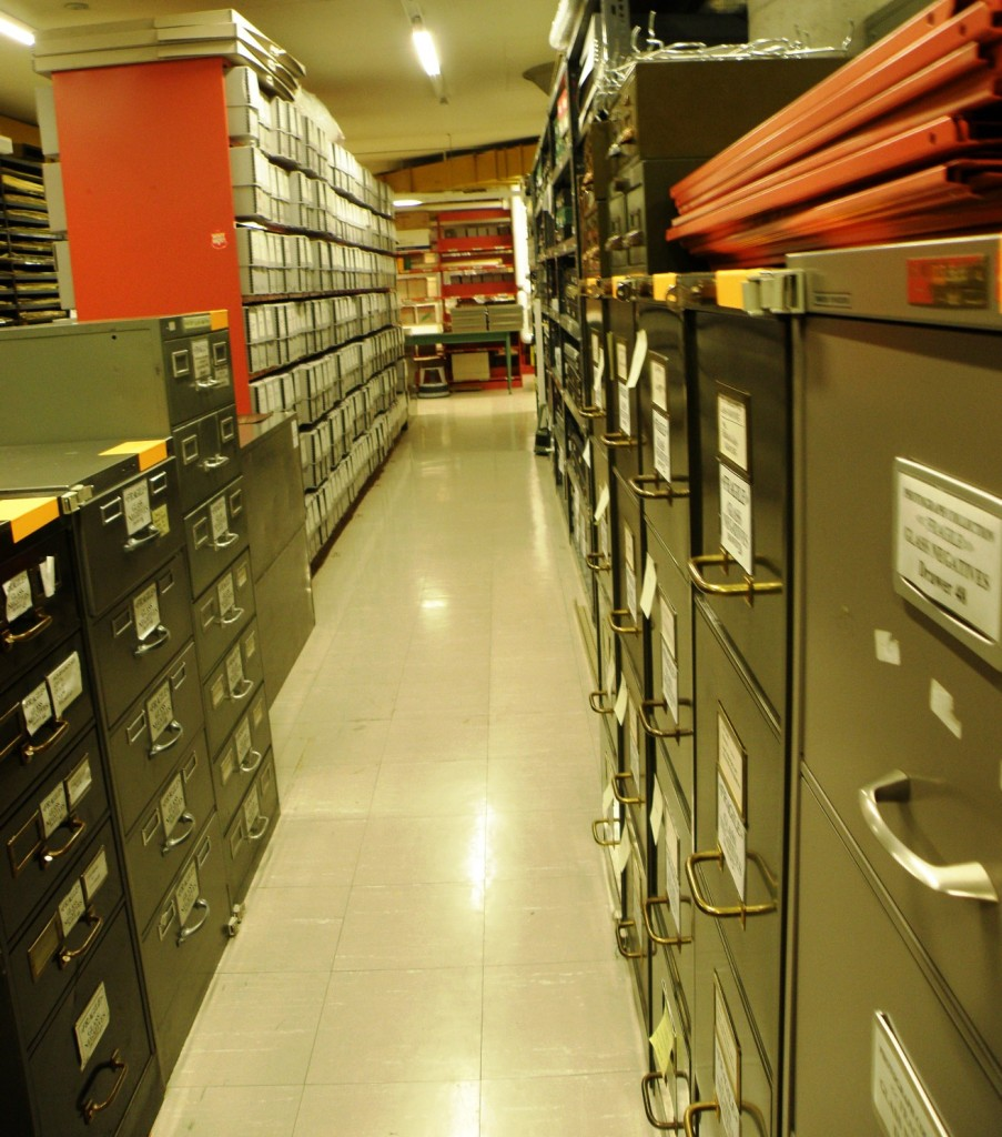 Our former glass plate negative storage cabinets. Photo by Cindy Mclellan.
