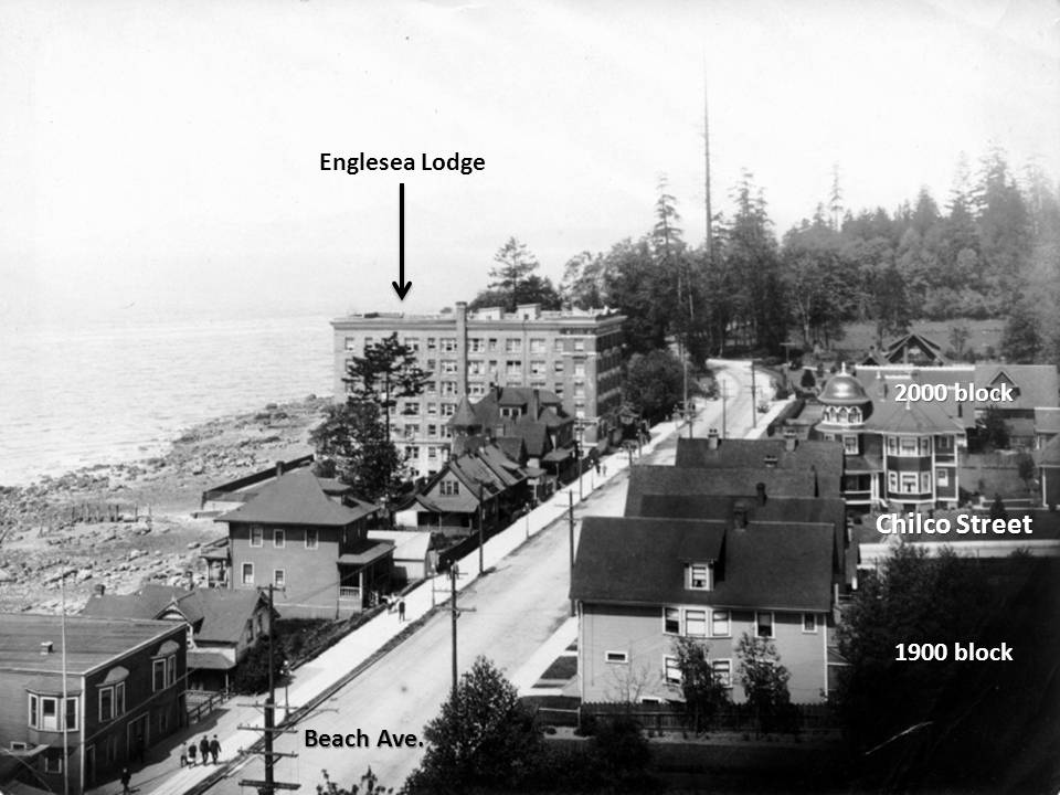 The photo above, showing streets and features.
