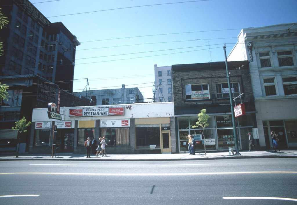 400 West Pender Street south side, May 27, 1974. Reference Code: COV-S509-: CVA 778-275