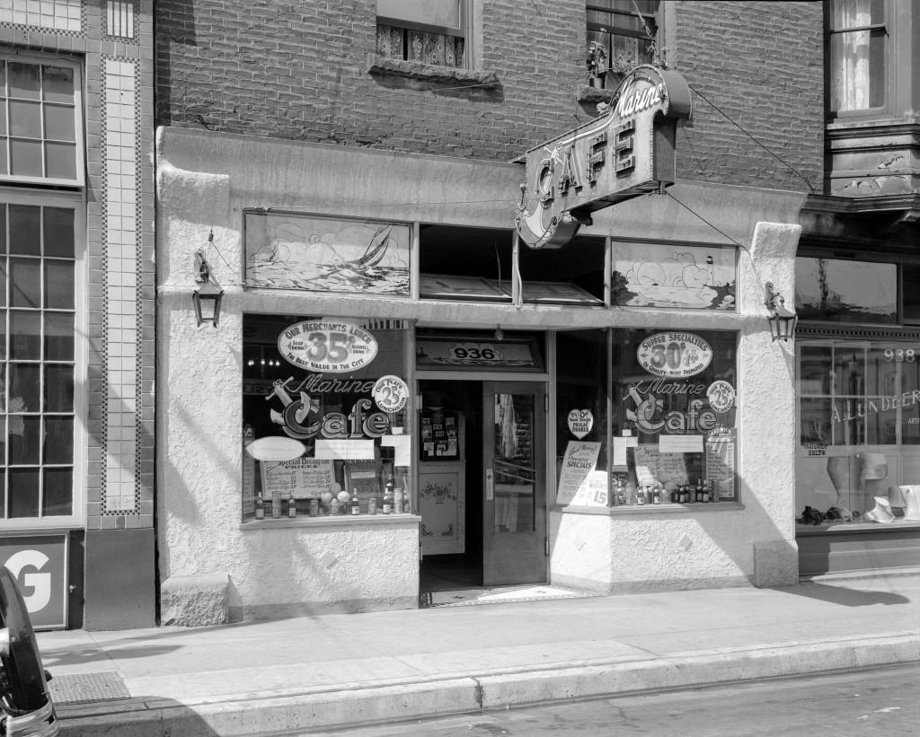 Marine Cafe at 936 West Pender Street. July 7, 1931. Stuart Thompson photographer. Reference code: AM1535-: CVA 99-3964