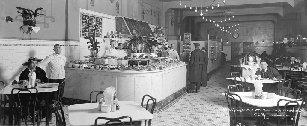 White Lunch Ltd. No. 4, 806 Granville St. Vancouver, B.C., 8 Mar. 1918. Stuart Thomson, photographer. Reference code: AM1535-: CVA 99-5167