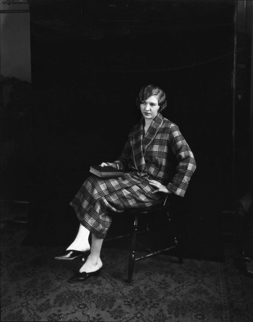 The same woman modeling a bathrobe for David Spencer Ltd, ca. 1920. Reference code AM1535-: CVA 99-1448. Photographer Stuart Thomson.