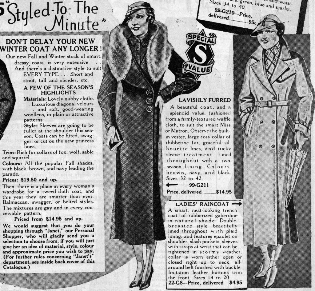 Excerpt from 1936 Spencer's Store catalogue. Reference code  AM1495. File-David Spencer Department Store Journals and Catalogues.