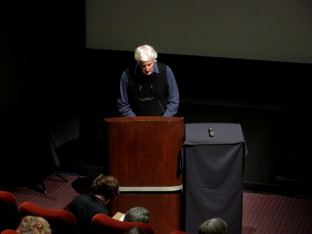 Michael Kluckner providing historical commentary. Photograph by Jeffery Chong.