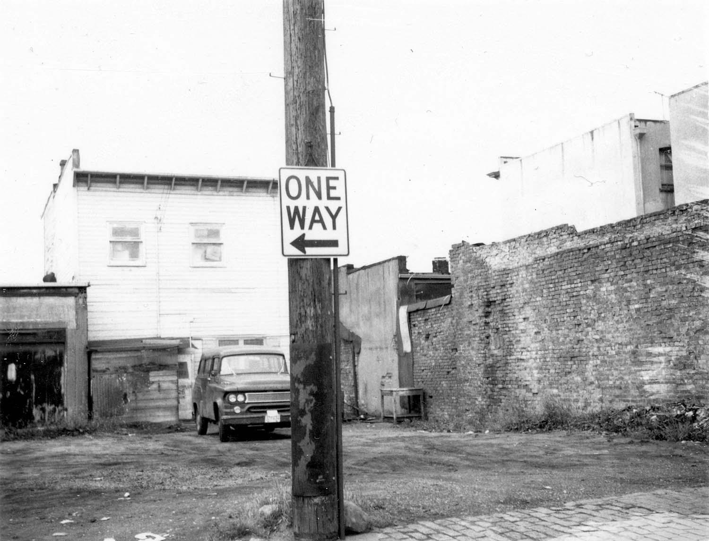 Back of 818 - 826 Main Street, 1970. Photograph shows 3 Vets (830 Main Street and 832 Main Street). Reference code COV-S168-: CVA 203-14