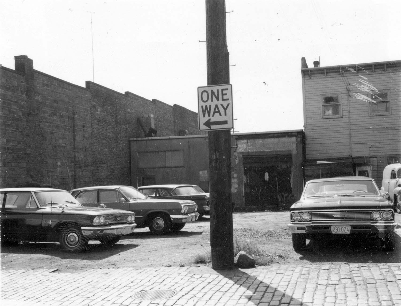 Back of 828 - 830 Main Street, 1969. Reference code COV-S168-: CVA 203-17