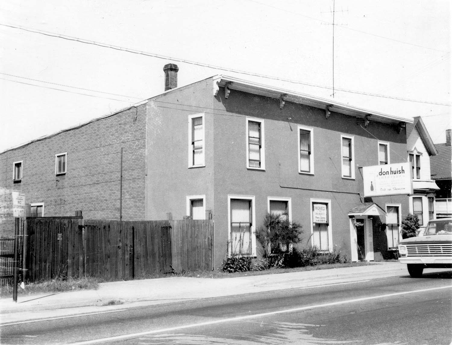 249 Prior Street, front, 1968. Photograph shows Don Huish Interiors sign.Reference code COV-S168-: CVA 203-22