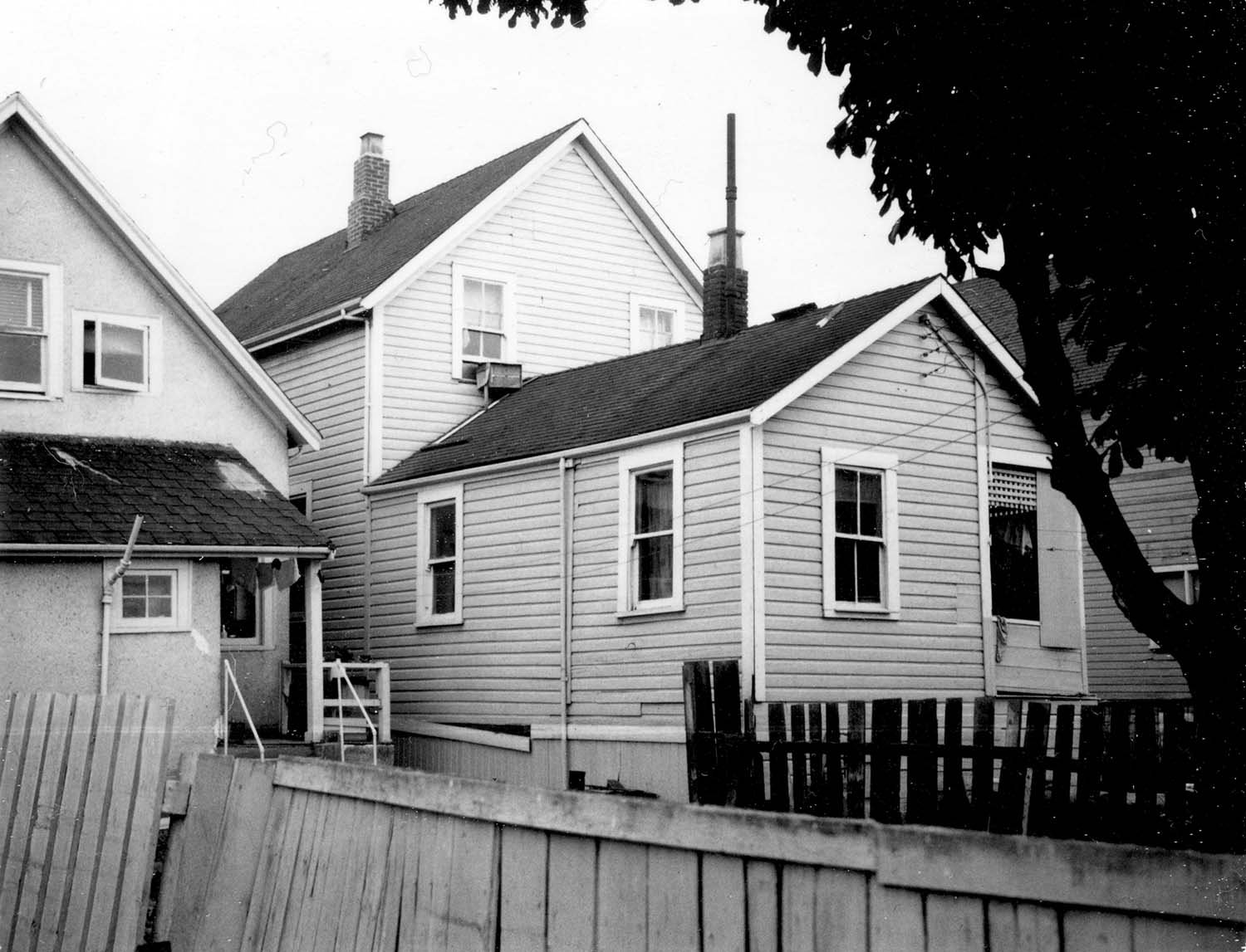 224 Union Street back, 1968. Photograph also shows portion of 218 Union Street. Reference code COV-S168-: CVA 203-39