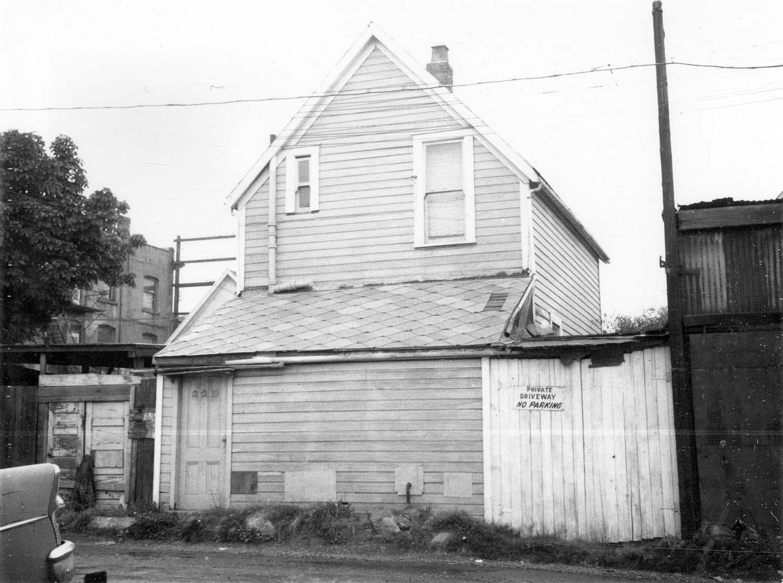 226 Union Street, back, 1968. Reference code COV-S168-: CVA 203-41