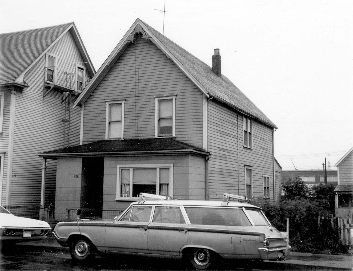 230 Union Street, front, 1968. Photograph also shows portion of 232 Union Street.Reference code COV-S168-: CVA 203-42
