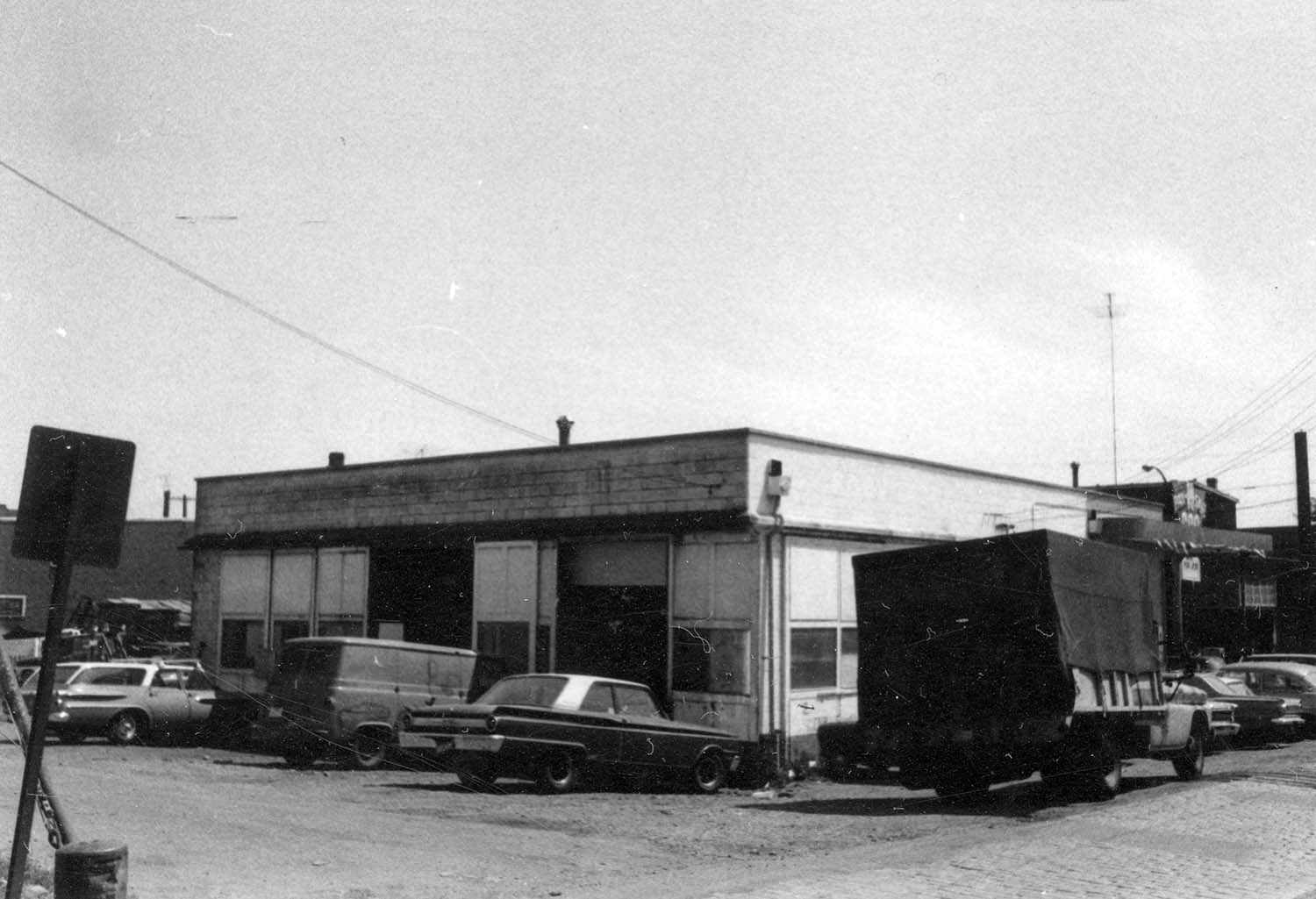 Rear and west side view of building [219 - 221 Prior Street], 1969. Reference code COV-S168-: CVA 203-54