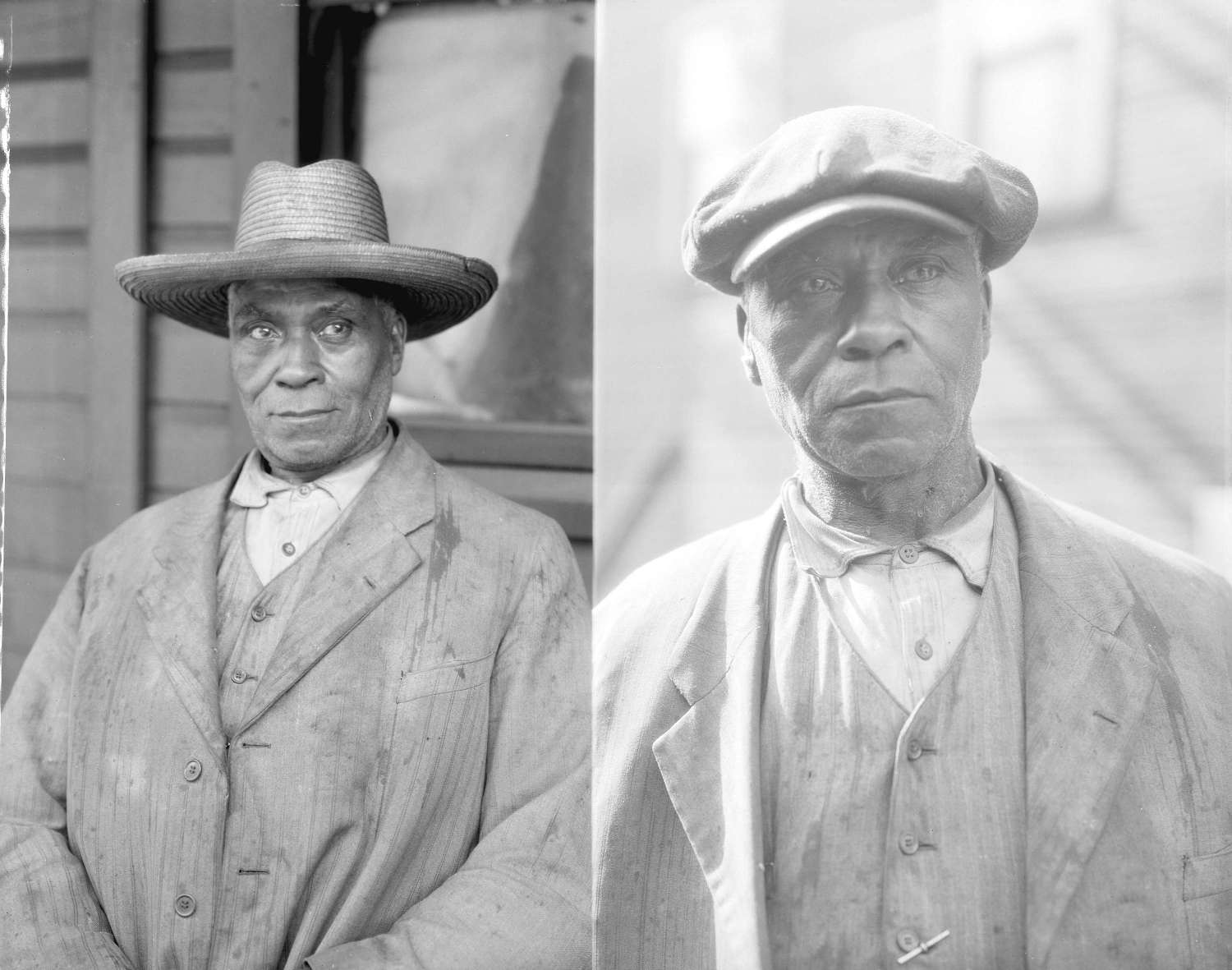 Two portraits of Fielding William Spotts, age 78, at 217 1/2 Hogan's Alley, Vancouver. May 28, 1935. Reference code AM54-S4-: Port N3.2.