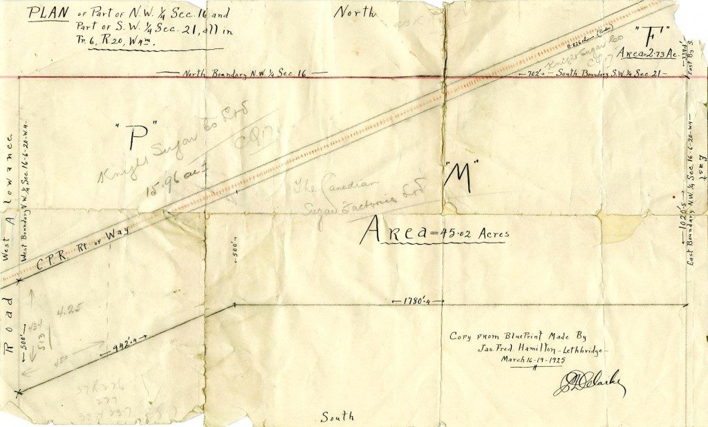 Plan of Part of NW 1/4 Sec. 16 and Part of SW 1/4 Sec. 21, all in Tp. 6, R. 20, West 4M; Reference code: AM1592-S16: 2011-092.4968.