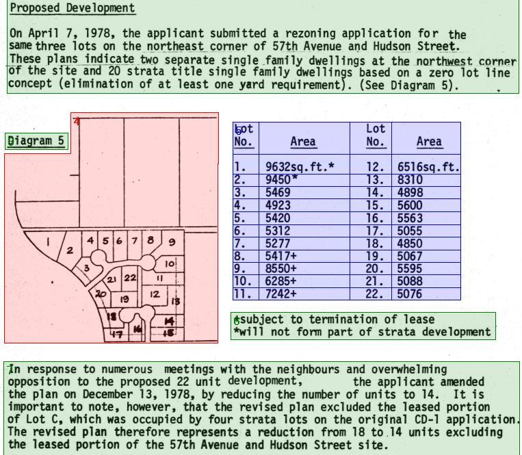 Detail from page 288 of the minutes of February 20, 1979 showing text, image and table segments.