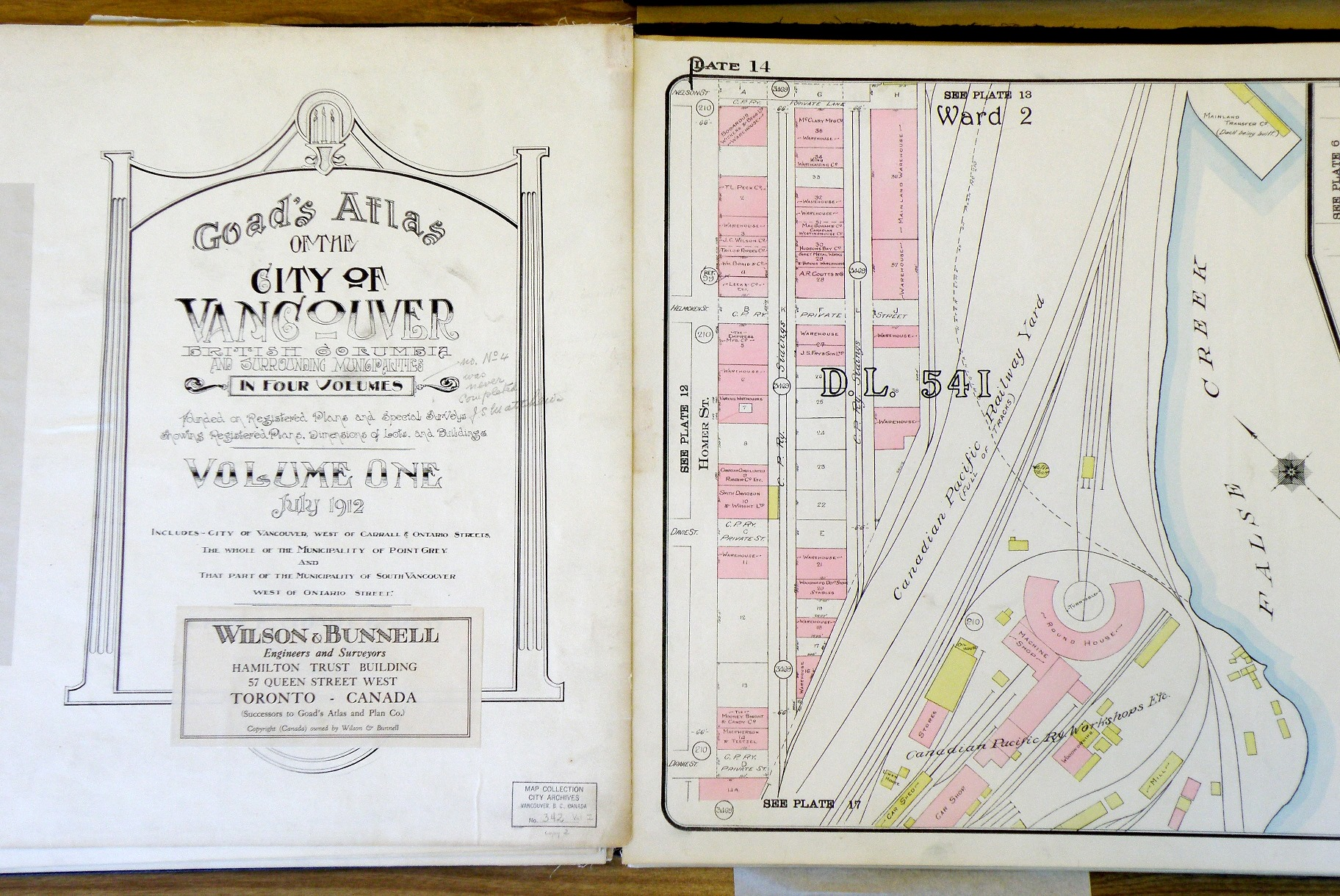Bound volume of Goad's 1912 Map