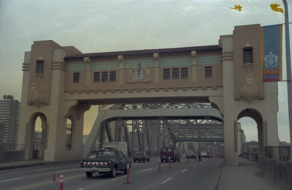 After the restoration of the Burrard Bridge, 1986. Reference code: COV-S477-3-F111-: CVA 775-86