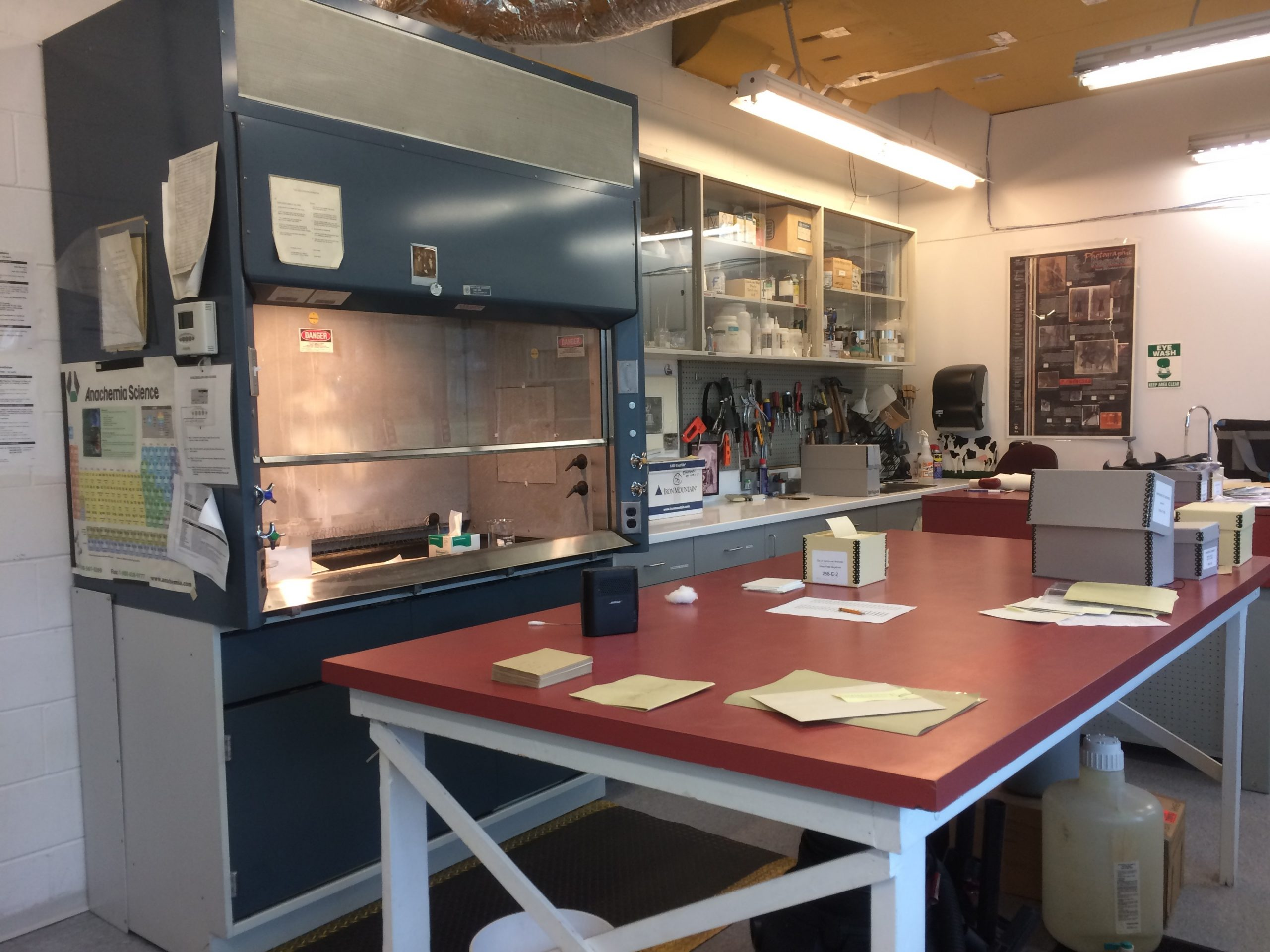 The Conservation Lab at the Archives. Photo by Bronwyn Smyth
