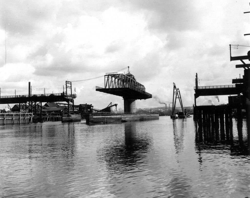 The problem [old (second) Granville Street Bridge with swing span open]; Reference code: COV-S593-: CVA 216-2.03.