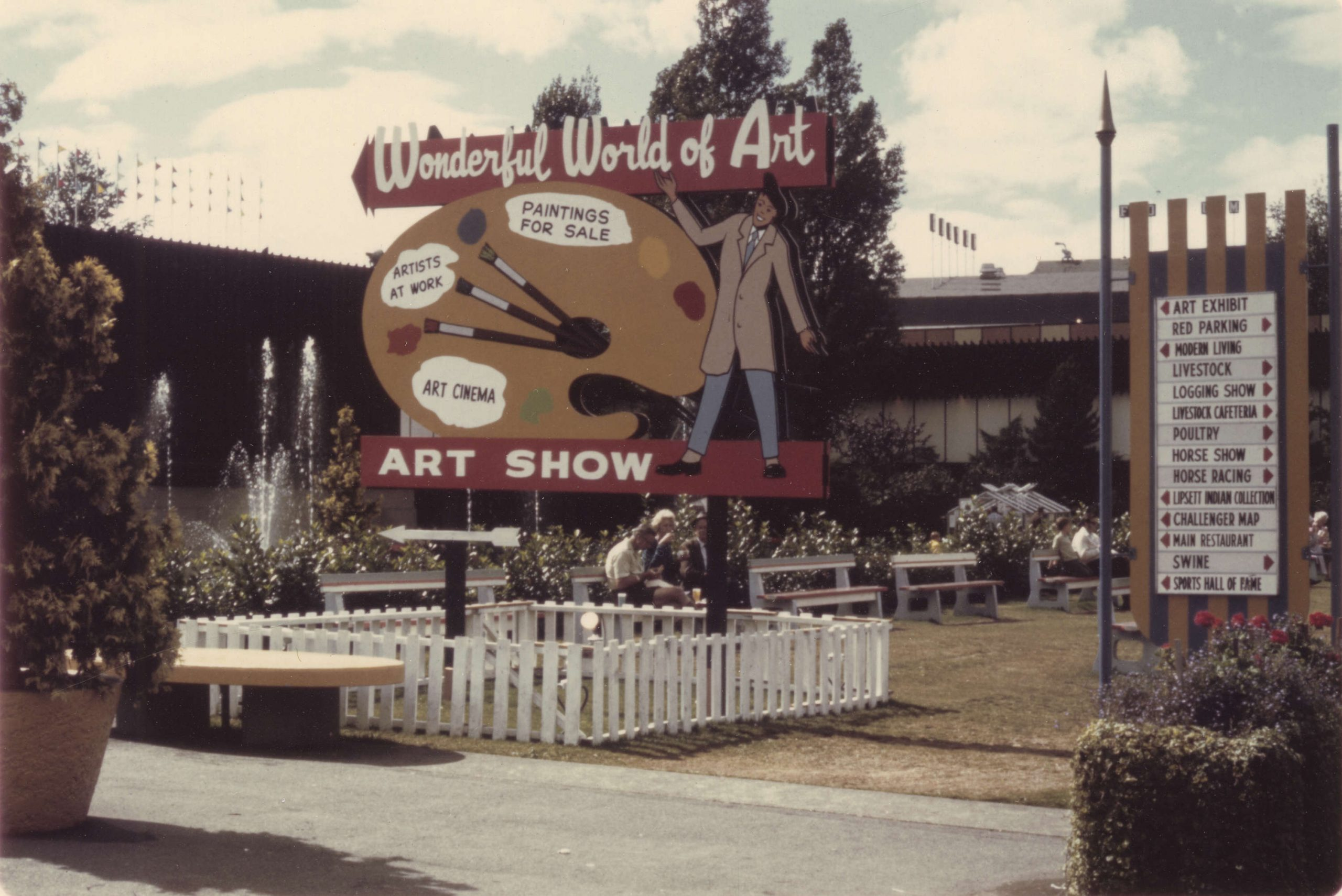 "Sign for 1970 P.N.E. ""Wonderful World of Art"" Art Show. 1970. Reference code AM281-S8-: CVA 180-6779"