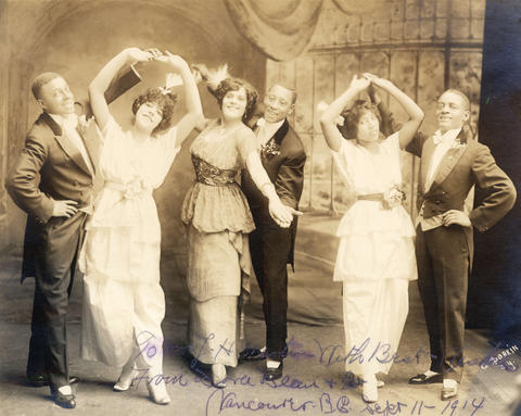 Vaudeville actors who performed at the Orpheum Theatre, 1914. Reference code AM54-S4-2-: CVA 371-2165.