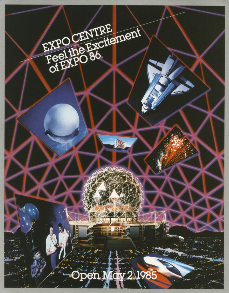 Green & Huckvale Expo 86 poster design. Reference Code AM1453-S3, Box 972-F-2 folder 4