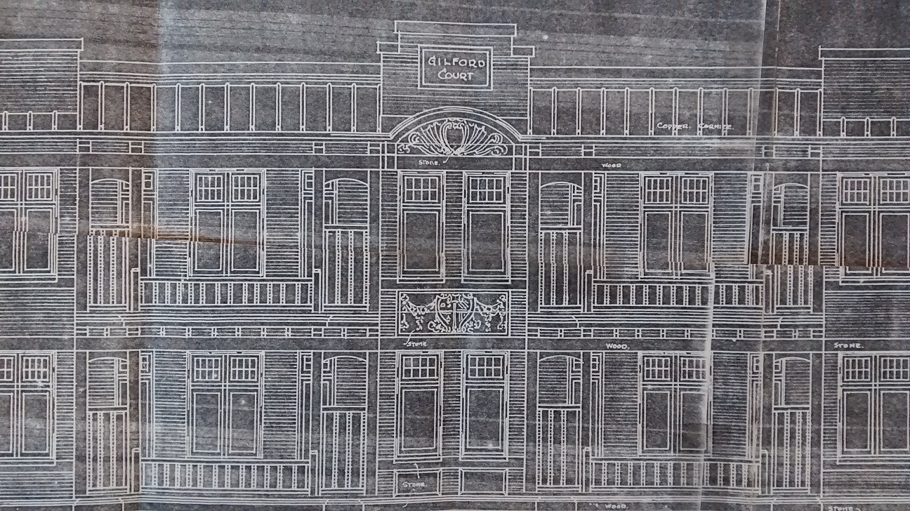 Drawing of Gilford Court from file COV-S682-F206 Pendrell Street