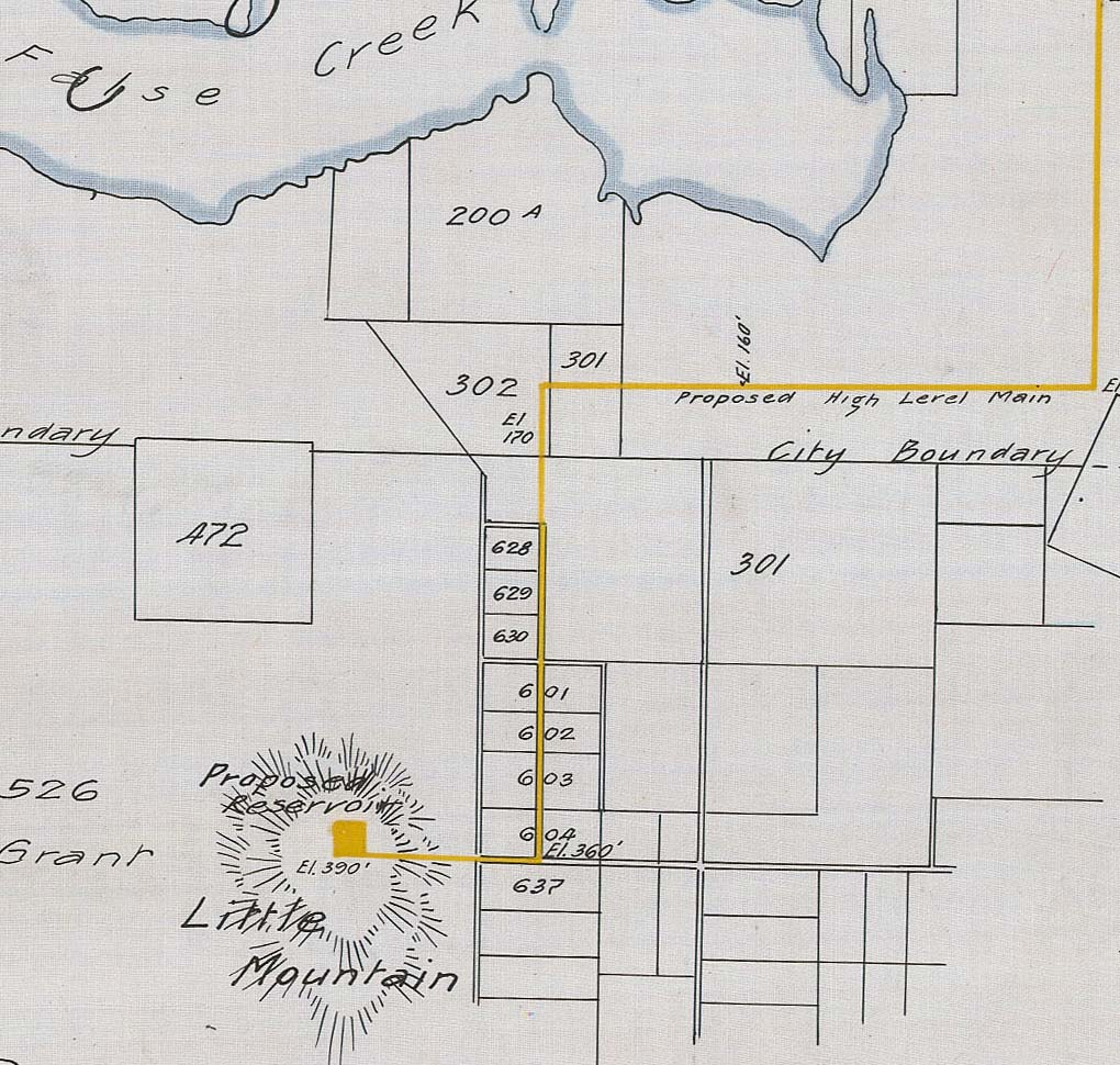 General plan of proposed extension & improvements, circa 1907. Reference code COV-S371---: LEG1153.092