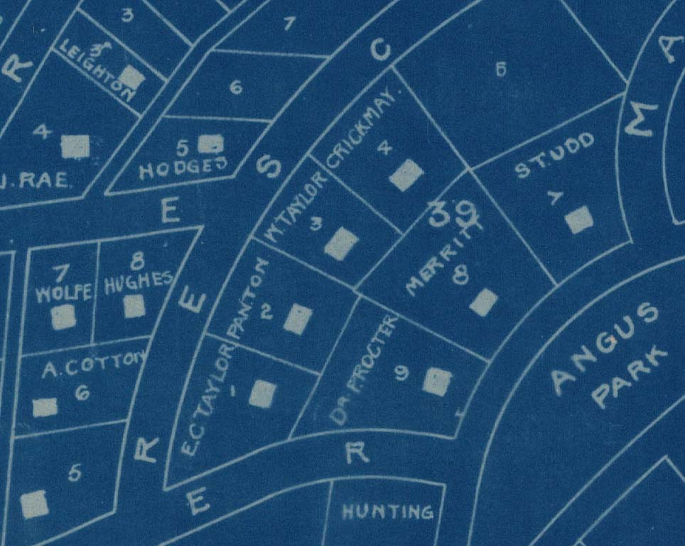 Map of Shaughnessy Heights, 1912. Detail of reference code AM641-S8-: LEG1363.01.