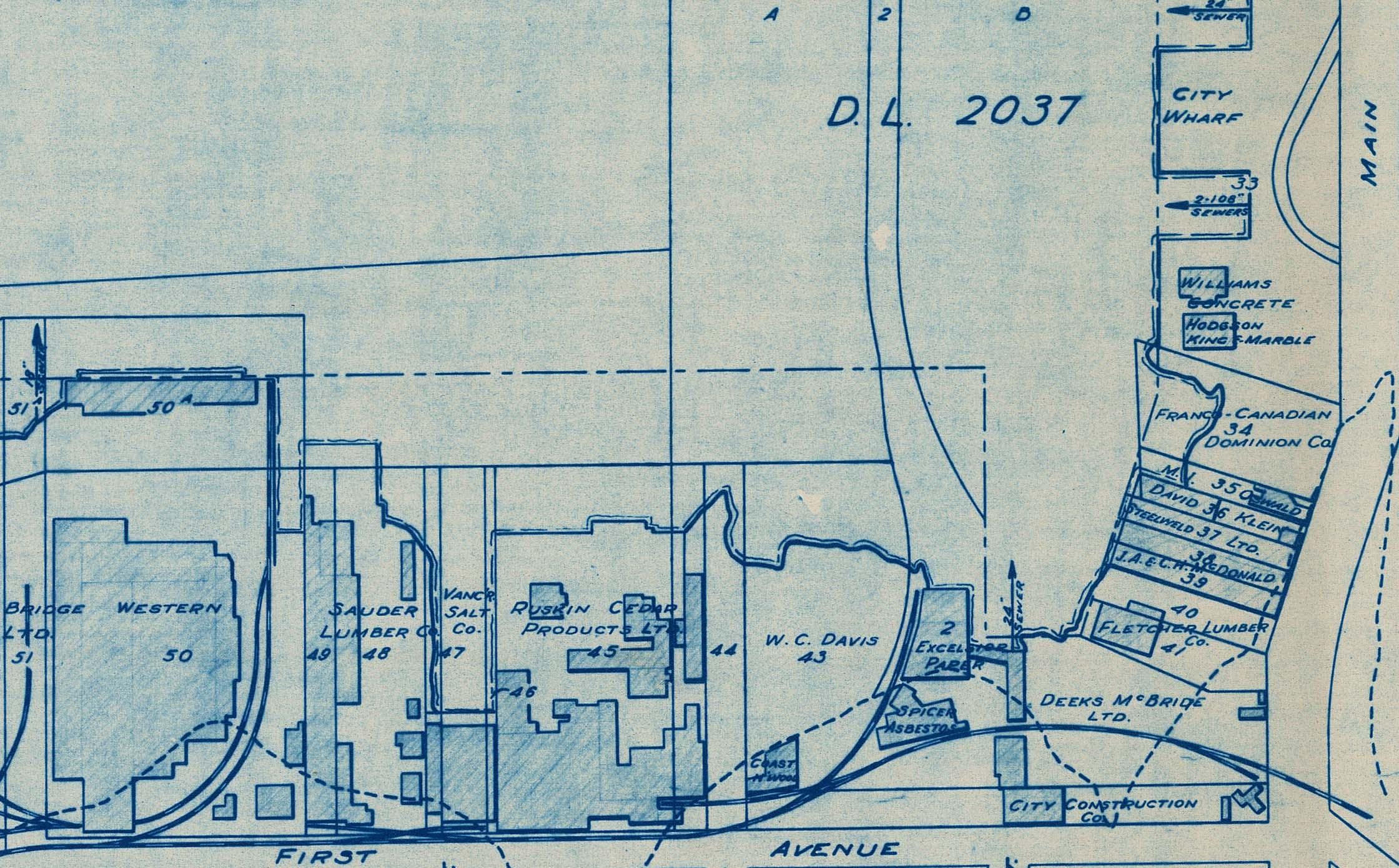 False Creek development survey occupation plan, September 1952. Reference code AM738-F1-: MAP 913.