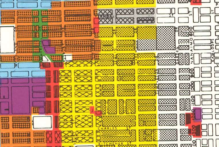 Detail from March 1990 zoning map. Reference code PUB-: PD 2100.6.
