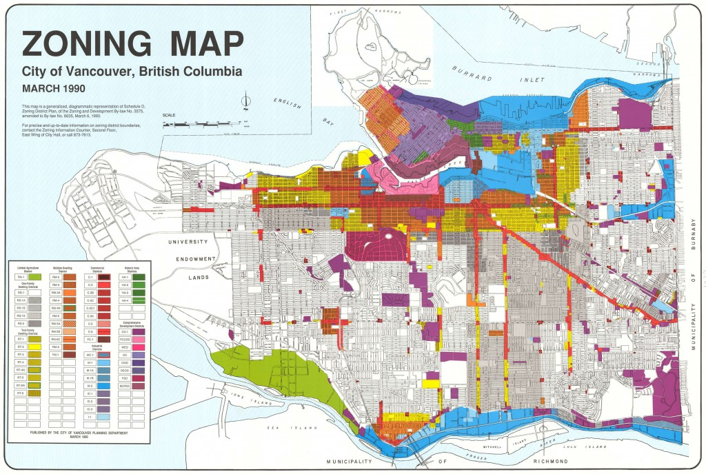 March 1990 zoning map. Reference code PUB-: PD 2100.6.