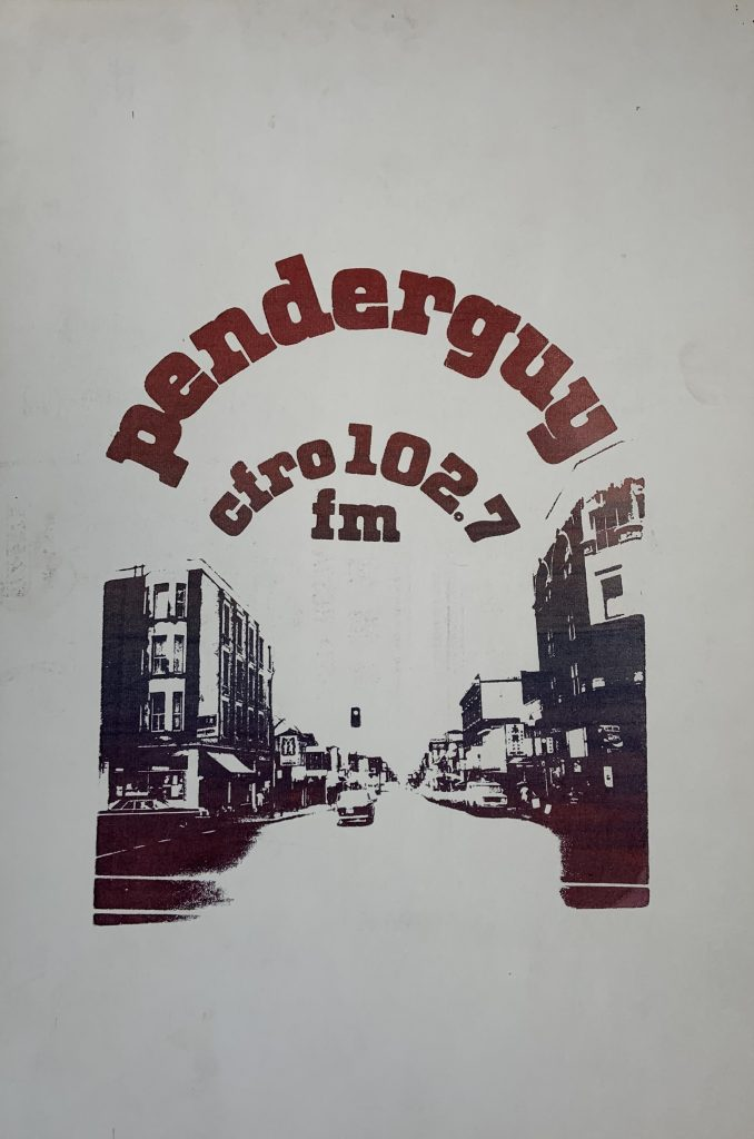 ender Guy, CFRO 102.7 fm poster, ca. 1980. Photo by Kristy Waller. Reference code: AM1523-S4-F189