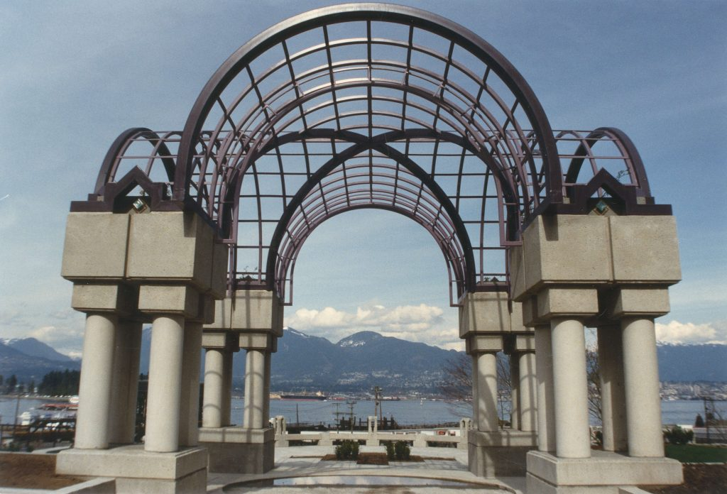 Portal Park with view of North Shore, 1986 or 1987. Reference code: COV-S477-3-F111-: CVA 775-29.3
